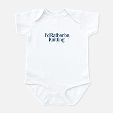 I'd Rather be Knitting Infant Bodysuit