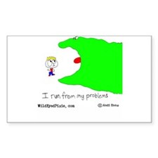 Wild Eyed Pixie - MyProblems Rectangle Decal