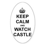 """Keep Calm And Watch Castle"" Sticker (Oval 10 pk)"