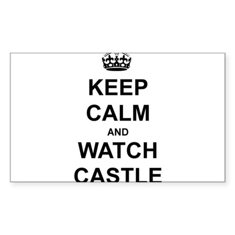"""Keep Calm And Watch Castle"" Sticker (Rectangle)"