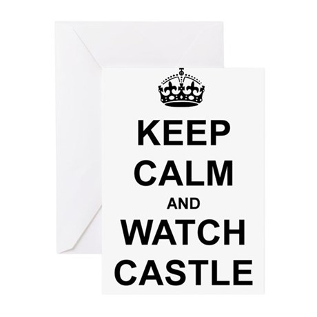 """Keep Calm And Watch Castle"" Greeting Cards (Pk of"