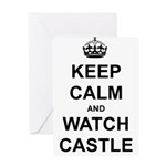 """Keep Calm And Watch Castle"" Greeting Card"