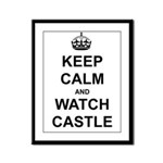 """Keep Calm And Watch Castle"" Framed Panel Print"