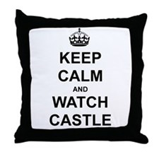 """Keep Calm And Watch Castle"" Throw Pillow"