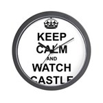 """Keep Calm And Watch Castle"" Wall Clock"