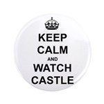 """Keep Calm And Watch Castle"" 3.5"" Button (100 pack"