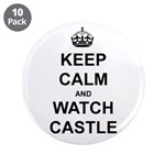 """Keep Calm And Watch Castle"" 3.5"" Button (10 pack)"
