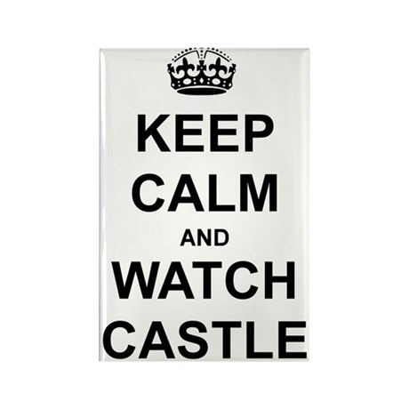"""""""Keep Calm And Watch Castle"""" Rectangle Magnet (10"""