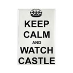 """Keep Calm And Watch Castle"" Rectangle Magnet"