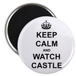 """Keep Calm And Watch Castle"" Magnet"