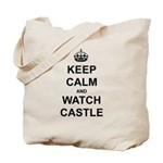"""Keep Calm And Watch Castle"" Tote Bag"
