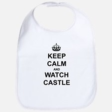 """Keep Calm And Watch Castle"" Bib"