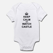 """""""Keep Calm And Watch Castle"""" Infant Bodysuit"""