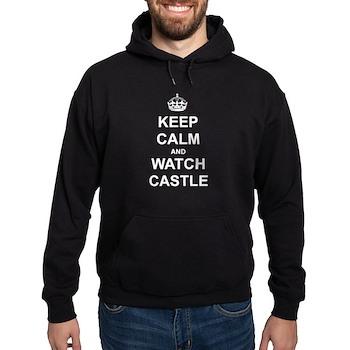 """Keep Calm And Watch Castle"" Hoodie (dark)"