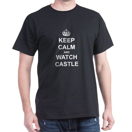 """Keep Calm And Watch Castle"" Dark T-Shirt"
