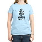 """Keep Calm And Watch Castle"" Women's Light T-Shirt"