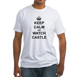 """Keep Calm And Watch Castle"" Fitted T-Shirt"
