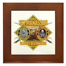 1st Manassas Framed Tile