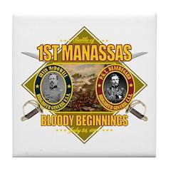 1st Manassas Tile Coaster