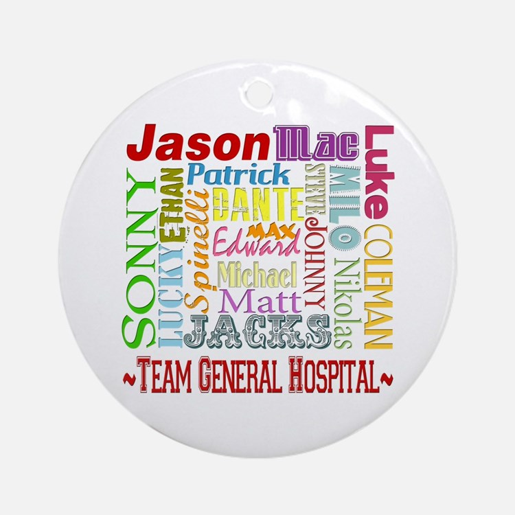 Team General Hospital Ornament (Round)