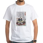 Samurai Warrior Akechi Mitsuhide White T-Shirt