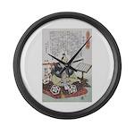 Samurai Warrior Akechi Mitsuhide Large Wall Clock