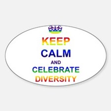 Keep Calm and Celebrate Diver Sticker (Oval)