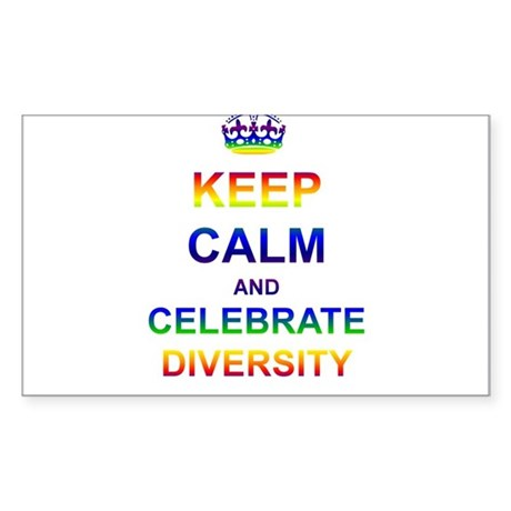 Keep Calm and Celebrate Diver Sticker (Rectangle)