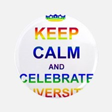 """Keep Calm and Celebrate Diver 3.5"""" Button"""