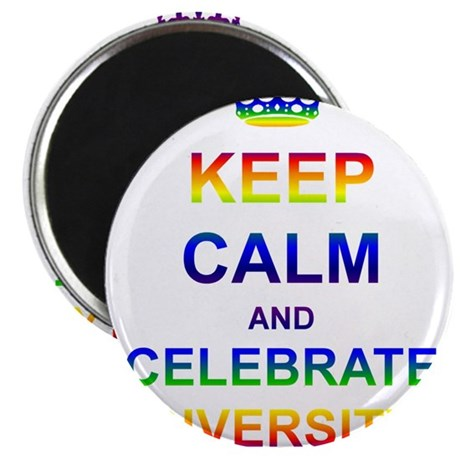 Keep Calm and Celebrate Diver Magnet