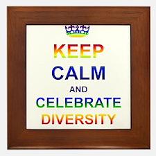 Keep Calm and Celebrate Diver Framed Tile
