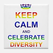 Keep Calm and Celebrate Diver Tile Coaster