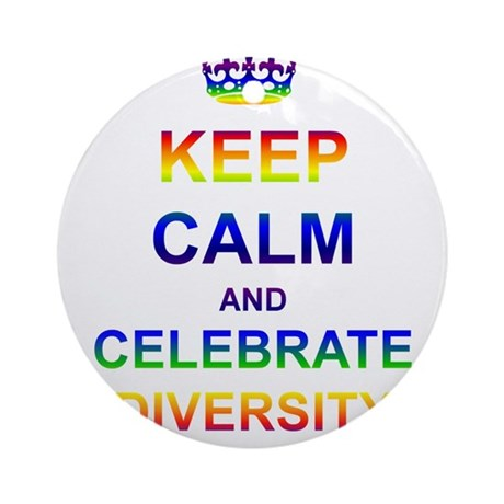 Keep Calm and Celebrate Diver Ornament (Round)