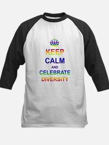 Keep Calm and Celebrate Diver Kids Baseball Jersey