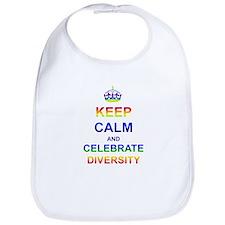 Keep Calm and Celebrate Diver Bib