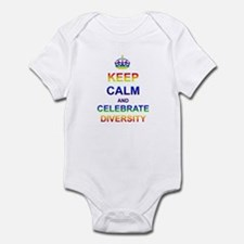 Keep Calm and Celebrate Diver Infant Bodysuit