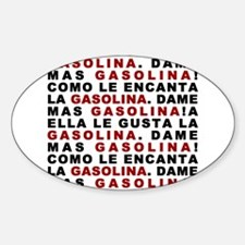 Gasolina Oval Decal