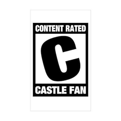 Rated Castle Fan Sticker (Rectangle 10 pk)