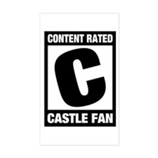 Rated Castle Fan Decal