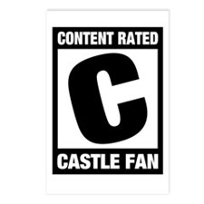Rated Castle Fan Postcards (Package of 8)