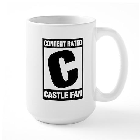 Rated Castle Fan Large Mug