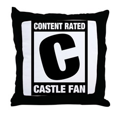 Rated Castle Fan Throw Pillow