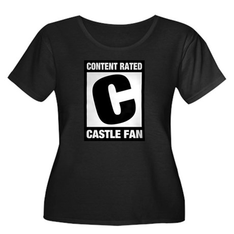 Rated Castle Fan Women's Plus Size Scoop Neck Dark