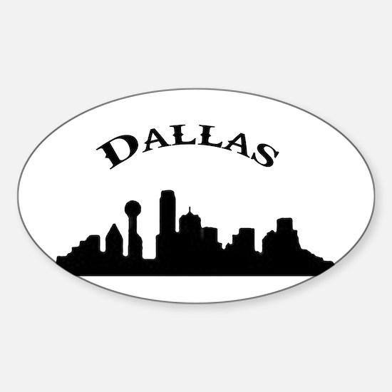 Unique Dallas skyline Sticker (Oval)