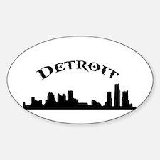 Funny Detroit skyline Decal