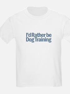 I'd Rather be Dog Training T-Shirt