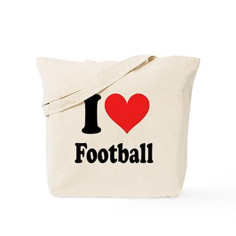 I Heart Football Tote Bag