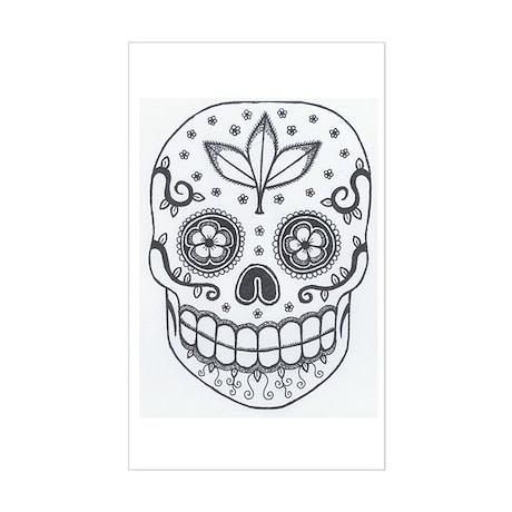 Sugar Skull Sticker (Rectangle)