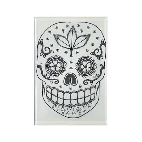 Sugar Skull Rectangle Magnet (10 pack)