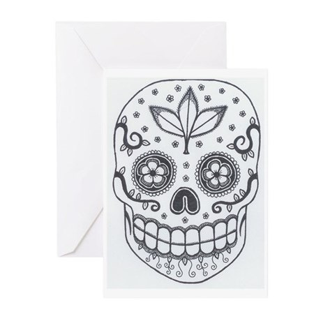 Sugar Skull Greeting Cards (Pk of 10)